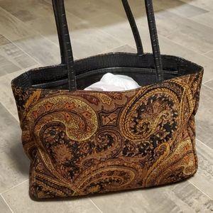 Vintage 80's Bueno Carpet Tote Bag
